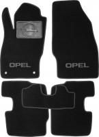 Коврики в салон для Opel Corsa D '06-14 текстильные, черные (Люкс)