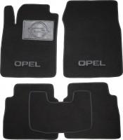 Коврики в салон для Opel Vectra C '06-08, универсал, текстильные, черные (Люкс)