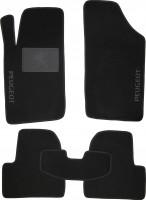 Коврики в салон для Peugeot 206 '98-09 текстильные, черные (Люкс)