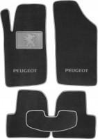 Коврики в салон для Peugeot 206 '98-09 текстильные, серые (Люкс)