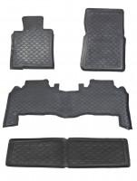 Коврики в салон для Lexus LX 570 '08-12 резиновые, черные (Star Diamond)