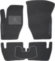 Коврики в салон для Peugeot 307 '01-07 текстильные, серые (Люкс)