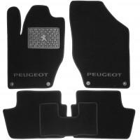 Коврики в салон для Peugeot 308 '08-13 текстильные, черные (Люкс)