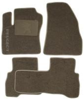Коврики в салон для Peugeot Bipper '08- текстильные, серые (Люкс)