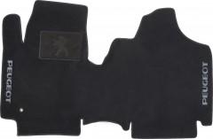 Коврики в салон для Peugeot Expert '07- текстильные, чёрные (Люкс)