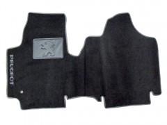 Коврики в салон для Peugeot Expert '07- текстильные, серые (Люкс)