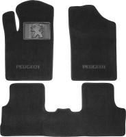 Коврики автомобильные Peugeot Partner '02-08 текстильные чёрные Люкс