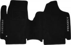 Коврики в салон для Peugeot Partner '08- текстильные, черные (Люкс)