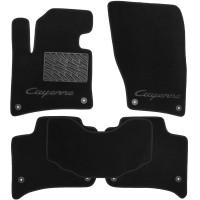 Коврики в салон для Porsche Cayenne '10-17 текстильные, черные (Люкс)