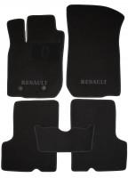 Коврики в салон для Renault Duster '10-14, 4/2WD текстильные, черные (Люкс) 2 клипсы