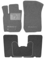 Коврики в салон для Renault Duster '10-14, 4/2WD текстильные, серые (Люкс) 2 клипсы