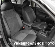 Авточехлы Leather Style для салона Mitsubishi Lancer X (10) мотор 2. 0, черные (MW Brothers)