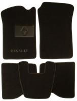 Коврики в салон для Renault Kangoo '97-09 текстильные, черные (Люкс)