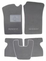 Коврики в салон для Renault Kangoo '97-09 текстильные, серые (Люкс)