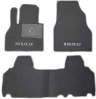 Коврики в салон для Renault Kangoo '09- текстильные, серые (Люкс)