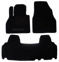 Коврики в салон для Renault Kangoo '09- текстильные, черные (Люкс)