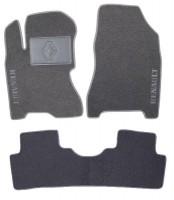 Коврики в салон для Renault Koleos '06-16 текстильные, серые (Люкс)
