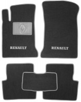 Коврики в салон для Renault Laguna '01-06 текстильные, серые (Люкс)