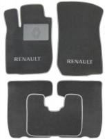Коврики в салон для Renault Logan MCV '08-12/Largus 12- текстильные, серые (Люкс)