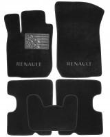 Коврики в салон для Renault Logan '04-12 текстильные, черные (Люкс)