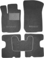 Коврики в салон для Renault Logan '04-12 текстильные, серые (Люкс)