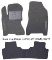 Коврики в салон для Renault Modus '04-12 текстильные, черные (Люкс)