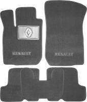 Коврики в салон для Renault Sandero '08-12 текстильные, серые (Люкс)