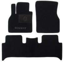 Коврики в салон для Renault Scenic '03-08 текстильные, черные (Люкс)
