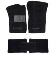 Коврики в салон для Renault Clio II / Symbol '01-12 текстильные, черные (Люкс)
