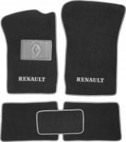 Коврики в салон для Renault Clio II / Symbol '01-12 текстильные, серые (Люкс)