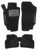 Коврики в салон для Seat Ibiza '08- текстильные, черные (Люкс)
