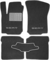 Коврики в салон для Seat Leon '00-05 текстильные, серые (Люкс)