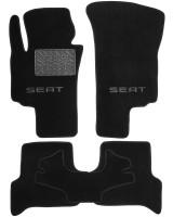 Коврики в салон для Seat Toledo '05-09 текстильные, черные (Люкс)