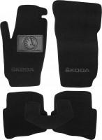Коврики в салон для Skoda Fabia '99-07 текстильные, черные (Люкс)