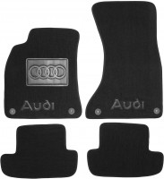 Коврики в салон для Audi A5 '07- Coupe текстильные, черные (Люкс) 4 клипсы