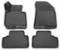 Полиуретановые коврики 3D в салон для Kia Carens '13- (Novline / Element)