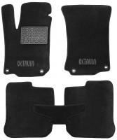 Коврики в салон для Skoda Octavia '97-09 текстильные, черные (Люкс)