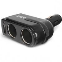 Разветвитель прикуривателя Mystery MCU-2U на 2 гнезда + USB