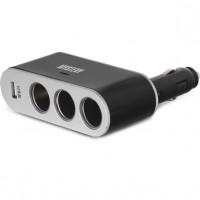 Разветвитель прикуривателя Mystery MCU-3U на 3 гнезда + USB