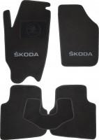 Коврики в салон для Skoda Roomster '07- текстильные, черные (Люкс)