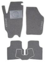 Коврики в салон для Skoda Roomster '07- текстильные, серые (Люкс)