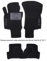 Коврики в салон для Skoda Yeti '09-17 текстильные, черные (Люкс)