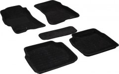 3d Mats Килимки в салон для Subaru Outback '04-08 текстильні 3D, чорні (3D Mats)