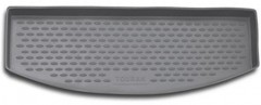 Коврик в багажник для Volkswagen Touran '03-15 (короткий), полиуретановый (Novline / Element) серый