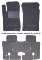 Коврики в салон для Ssangyong Rexton '01-06 текстильные, серые (Люкс)