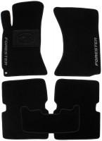 Коврики в салон для Subaru Forester '03-08 текстильные, черные (Люкс)