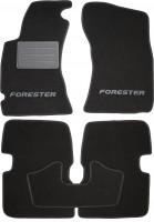 Коврики в салон для Subaru Forester '08-12 текстильные, черные (Люкс)