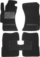 Коврики в салон для Subaru Impreza '07-12 текстильные, черные (Люкс)