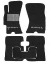 Коврики в салон для Subaru Outback/Legacy '04-10 текстильные, серые (Люкс)