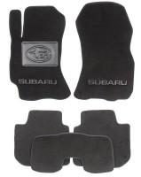 Коврики в салон для Subaru Legacy '10-14 текстильные, черные (Люкс)